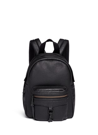 Main View - Click To Enlarge - Rebecca Minkoff - 'Mini M.A.B.' pebbled leather backpack