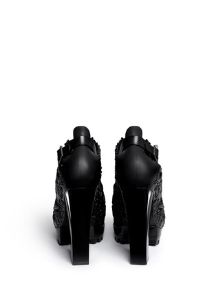 Back View - Click To Enlarge - Melissa - x Alexandre Herchcovitch 'Flower' cutout PVC boots