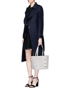 Michael Kors'Desi' small floral perforated leather travel tote