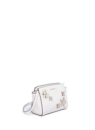 Detail View - Click To Enlarge - Michael Kors - 'Selma' medium floral embellished messenger bag