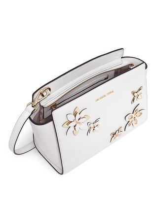 - Michael Kors - 'Selma' medium floral embellished messenger bag