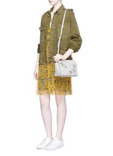 Michael Kors'Selma' medium floral embellished messenger bag