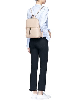 Figure View - Click To Enlarge - Michael Kors - 'Rhea' medium nappa leather backpack