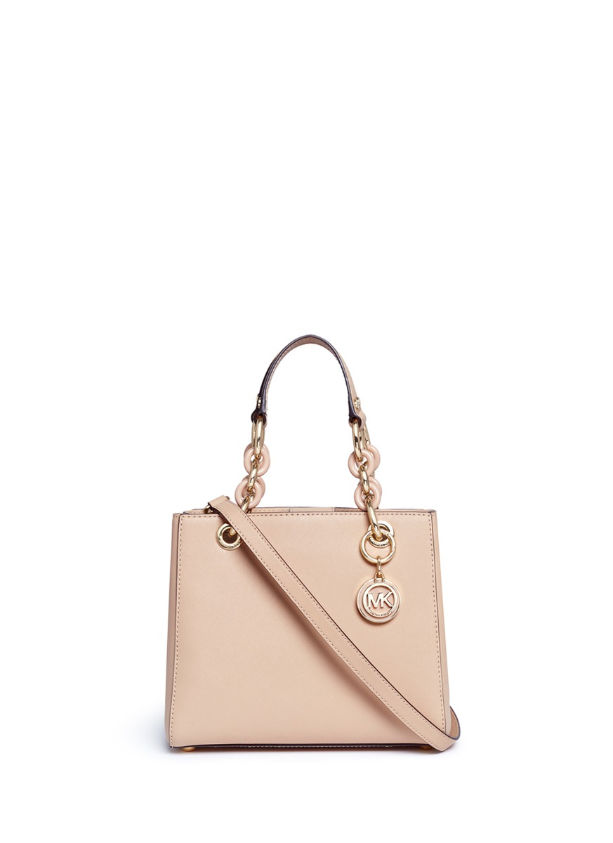 Cynthia North South small leather satchel by Michael Kors