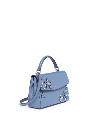 Detail View - Click To Enlarge - Michael Kors - 'Ava' small floral embellished leather satchel