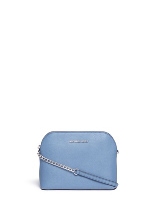 Main View - Click To Enlarge - Michael Kors - 'Cindy' large dome saffiano leather crossbody bag