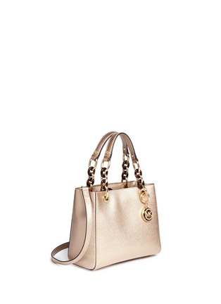Detail View - Click To Enlarge - Michael Kors - 'Cynthia North South' small leather satchel