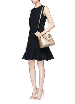 Front View - Click To Enlarge - Michael Kors - 'Cynthia North South' small leather satchel