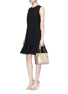 Michael Kors'Cynthia North South' small leather satchel