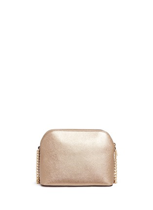 Detail View - Click To Enlarge - Michael Kors - 'Cindy' large dome saffiano leather crossbody bag