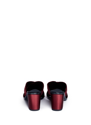 Back View - Click To Enlarge - Pedro García - 'Xail' cross vamp silk satin mules