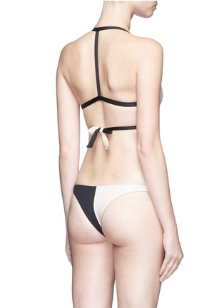 Back View - Click To Enlarge - Vitamin A - 'Camryn' wraparound tie triangle bikini top