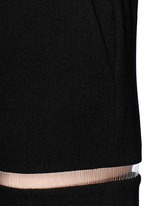 Fish line suspended crepe shorts