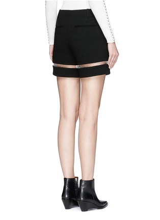Back View - Click To Enlarge - Alexander Wang  - Fish line suspended crepe shorts