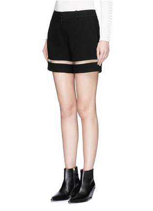 Front View - Click To Enlarge - Alexander Wang  - Fish line suspended crepe shorts