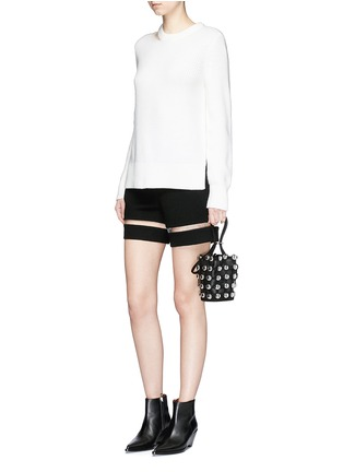 Figure View - Click To Enlarge - Alexander Wang  - Fish line suspended crepe shorts