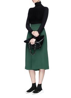 Acne Studios'Ida' cotton blend rib knit turtleneck sweater