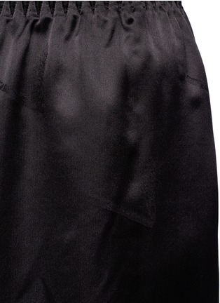 Detail View - Click To Enlarge - Alexander Wang  - Lace trim cigarette jacquard silk satin skirt