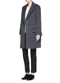 Ms MINPeaked lapel oversized coat