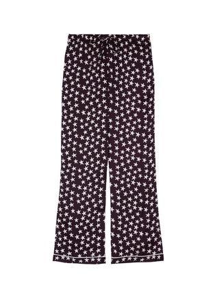 Main View - Click To Enlarge - Love Stories - 'Julian' star print satin pyjama pants