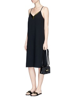 Lanvin Satin trim crepe camisole dress