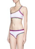 'Yaz' crochet trim one-shoulder bikini top