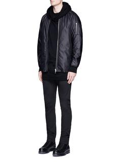 ATTACHMENTOversized zip hem bomber jacket
