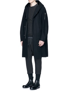 ATTACHMENT Hooded wool-cashmere coat