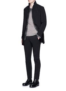 ATTACHMENTSlim fit tech cotton blend pants