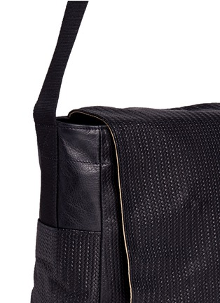 Detail View - Click To Enlarge - Meilleur Ami Paris - 'Tresse Couture' embossed leather messenger bag
