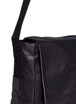 'Tresse Couture' embossed leather messenger bag