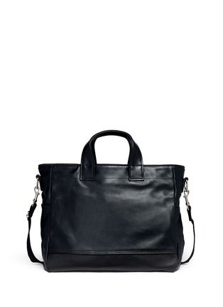 Back View - Click To Enlarge - Meilleur Ami Paris - 'Petit Ami' suede and leather tote bag