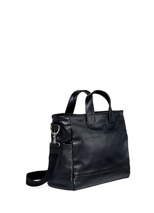 Meilleur Ami Paris-'Petit Ami' suede and leather tote bag