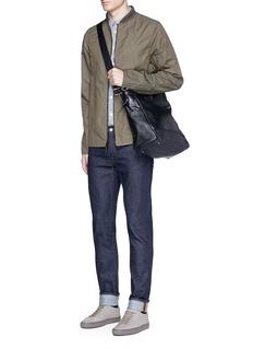 Meilleur Ami Paris'Petit Ami' suede and leather tote bag