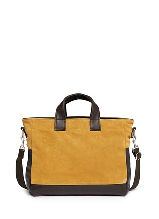 Main View - Click To Enlarge - Meilleur Ami Paris - 'Petit Ami' suede and leather tote bag
