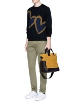 'Petit Ami' suede and leather tote bag