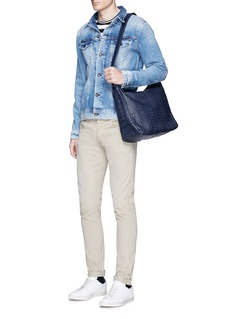 Meilleur Ami Paris'Tresse Couture' embossed leather messenger bag