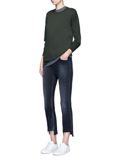VinceShort sleeve wool sweater