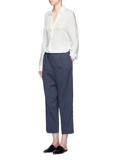 VinceTie print silk georgette lounge pants