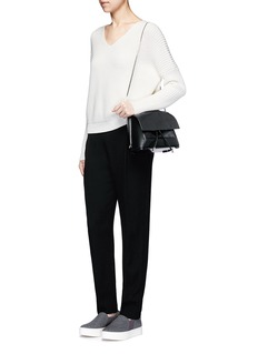 Vince'Vee' cotton chunky rib knit sweater