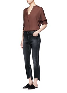 VinceCascading trim georgette blouse