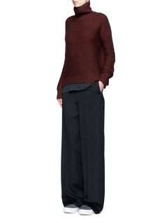 VinceWool-cashmere cowl neck sweater