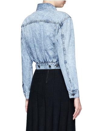 Back View - Click To Enlarge - alice + olivia - 'Chloe' patch embellished cropped denim jacket