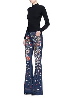 alice + olivia'Ryley' embellished bell denim pants