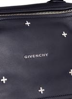 'Pandora' small cross stud leather bag