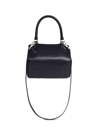Back View - Click To Enlarge - Givenchy - 'Pandora' small cross stud leather bag