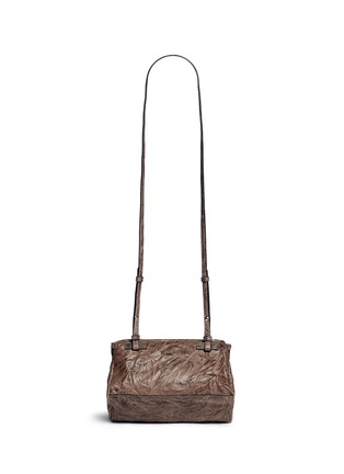 Back View - Click To Enlarge - Givenchy - 'Pandora' mini pepe sheepskin leather bag