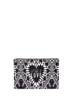 'Power of Love' large slogan print zip pouch