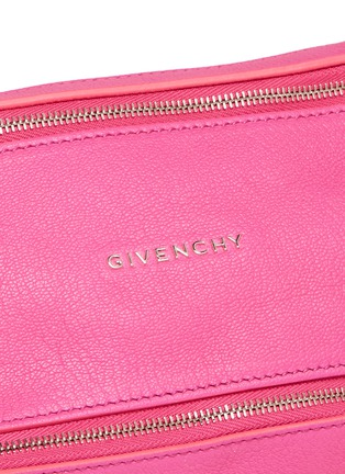 Detail View - Click To Enlarge - Givenchy - 'Pandora' mini chain goat leather bag