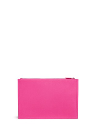 Back View - Click To Enlarge - Givenchy - 'Antigona' large leather zip pouch